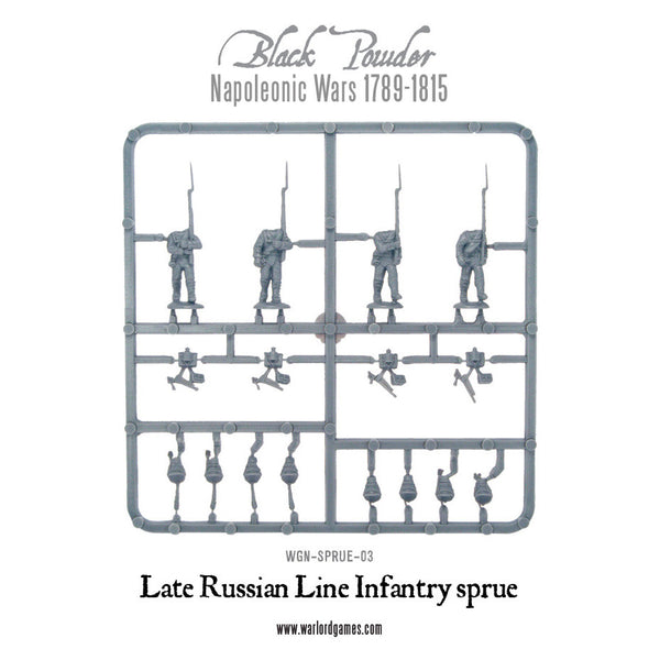 Late 1812 Russian Line Infantry Sprue