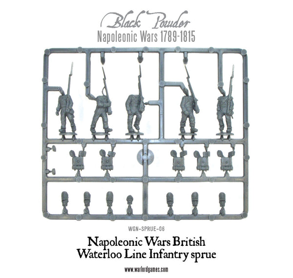 Napoleonic War British Waterloo Line Infantry sprue