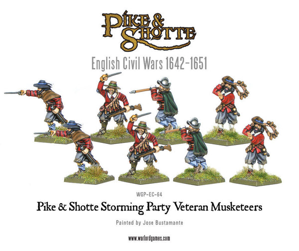 Pike & Shotte storming party veteran musketeers