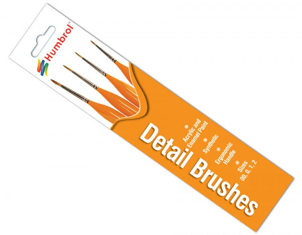Detail Ergonomic Handle Brush Pack 00, 0, 1, 2