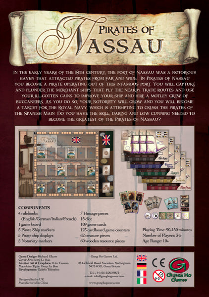 Pirates of Nassau boardgame