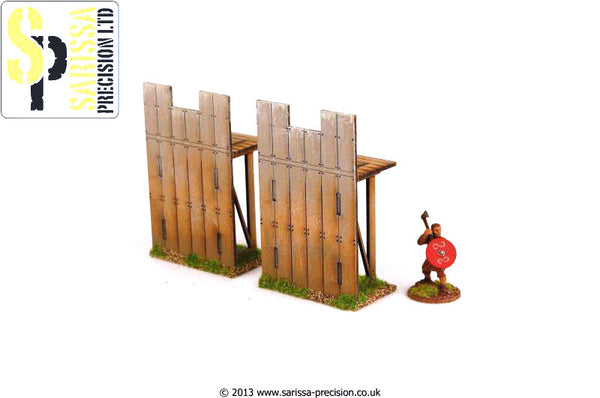 Wooden Palisade 1/2 Wall - Straight
