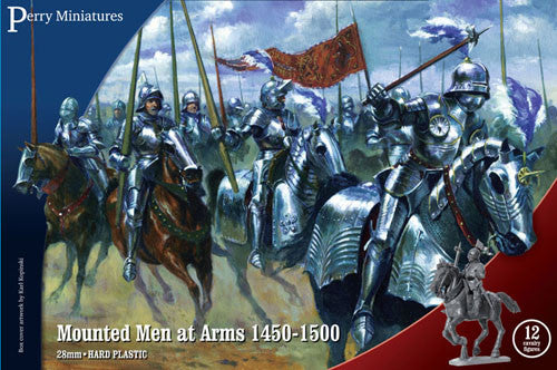 Wars of the Roses:  Mounted Men-at-Arms (1450-1500) plastic boxed set