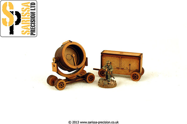 WW2 Search Light & Generator Set