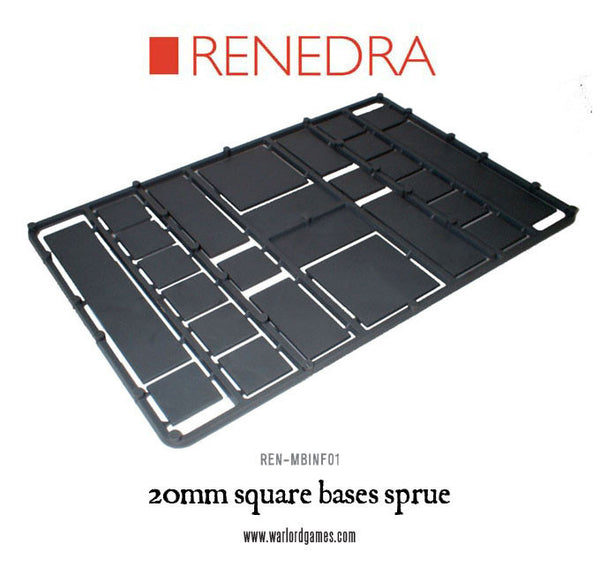 20mm square bases sprue