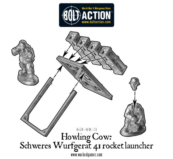German Heer Howling Cow rocket launcher (1943-45)