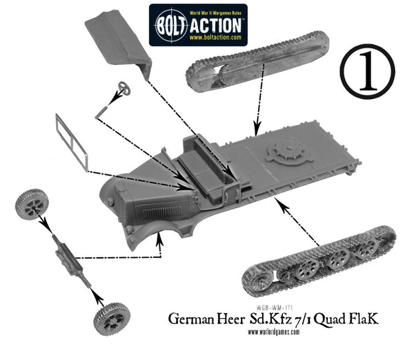 German Heer Sd.Kfz 7/1 quad FlaK
