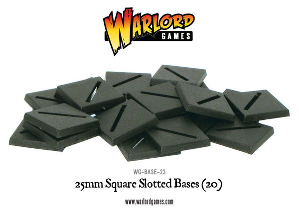 25mm Square Slotted bases (20)
