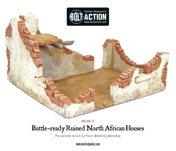 Battle-ready Ruined North African Houses