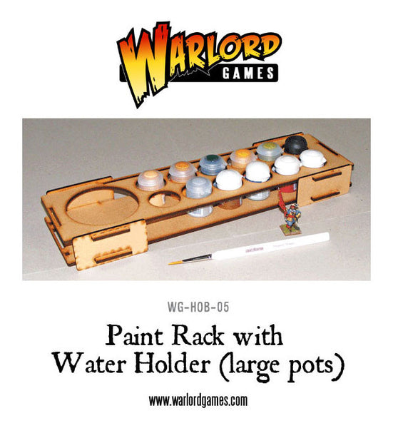 Paint Rack with Water Holder - Large Pots
