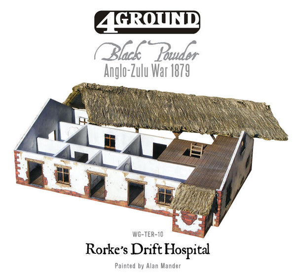 Rorke's Drift laser-cut hospital/house