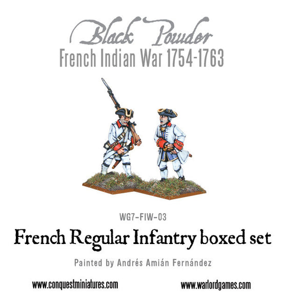 French Indian War 1754-1763: French Regular Infantry boxed set