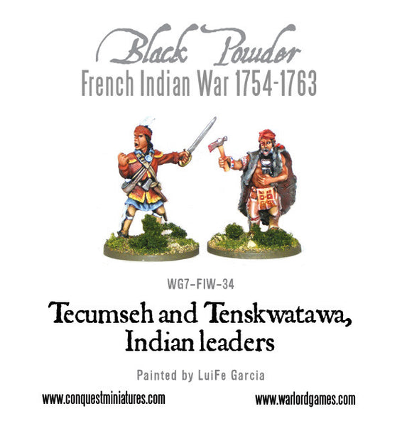 Tecumseh and Tenskwatawa, Indian leaders