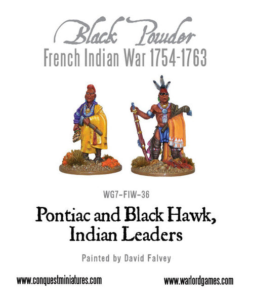Pontiac & Black Hawk, Indian leaders