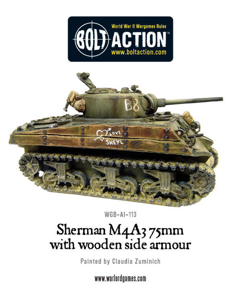 Sherman M4A3 (75mm) with wooden armour