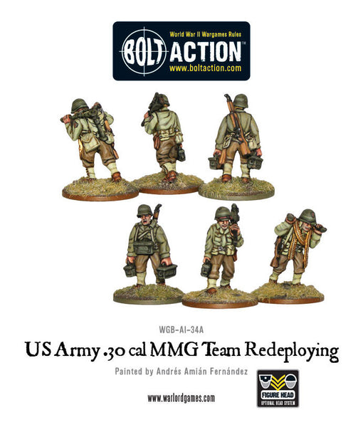 US Army 30 Cal MMG team redeploying