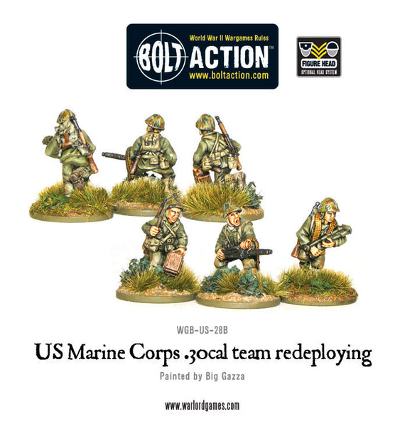 USMC 30 Cal MMG team redeploying