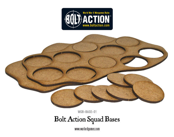 Bolt Action Squad Bases