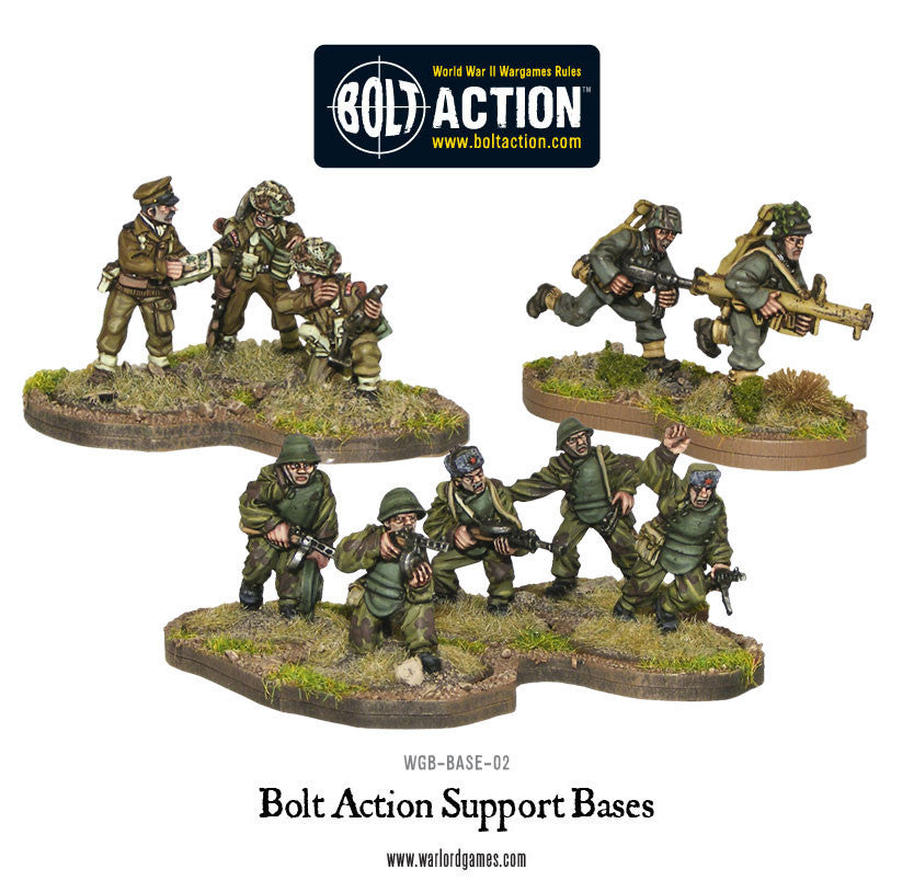 bolt action support bases warlord games