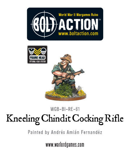 Kneeling Chindit Cocking Rifle