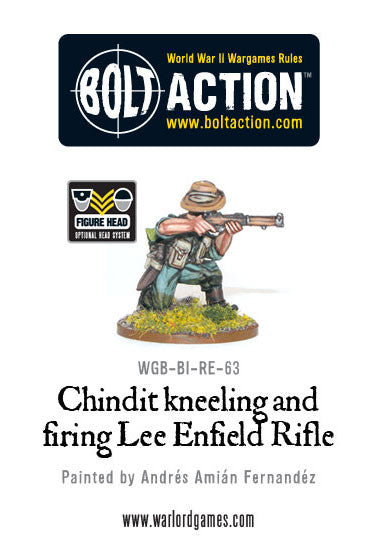Chindit Kneeling and Firing Lee Enfield Rifle