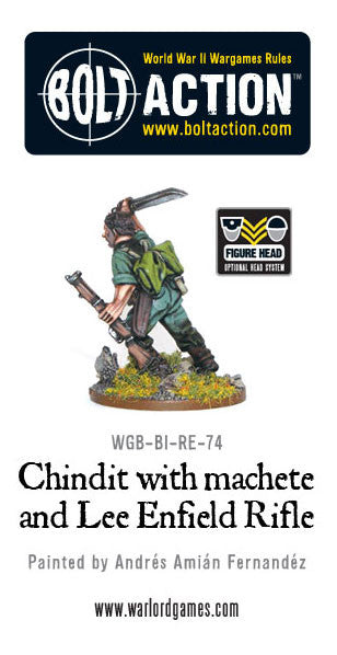 Chindit with Lee Enfield Rifle and Machete