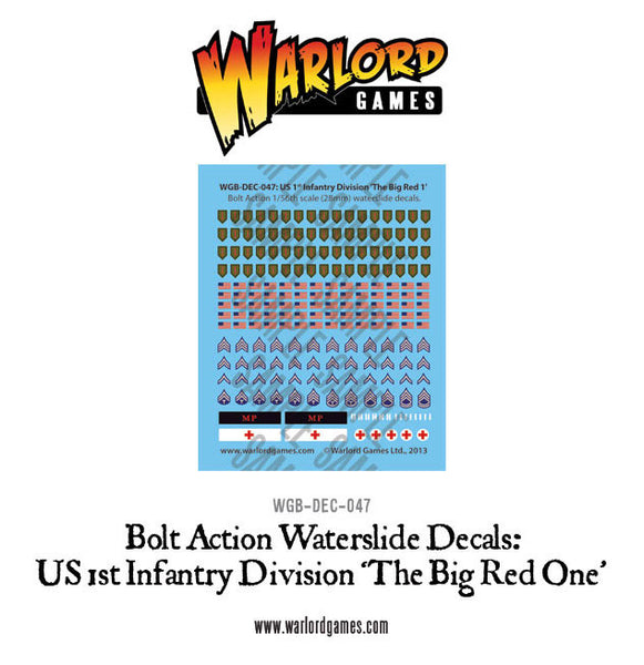 US 1st Infantry Division 'Big Red One' decal sheet