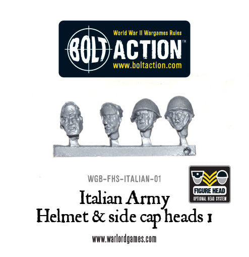 Italian Army Helmet & side cap heads 1