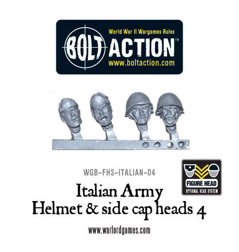 Italian Army Helmet & side cap heads 4