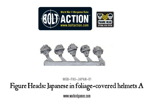 Figure Heads: Japanese in foliage-covered helmets A