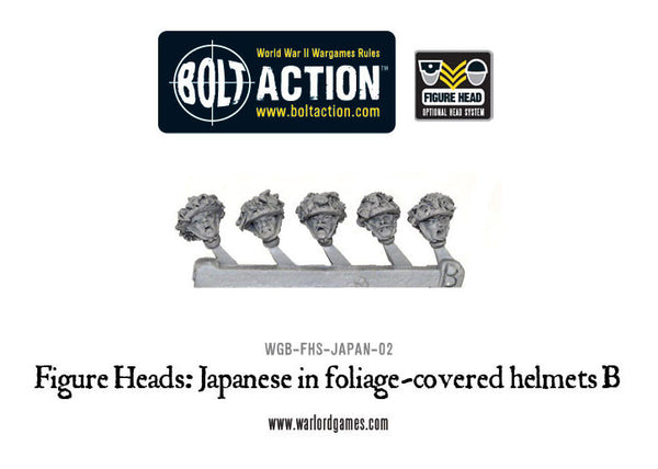 Figure Heads: Japanese in foliage-covered helmets B