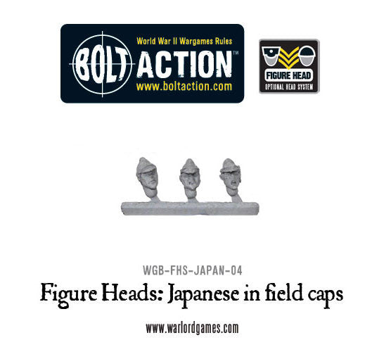 Figure Heads: Japanese in field caps