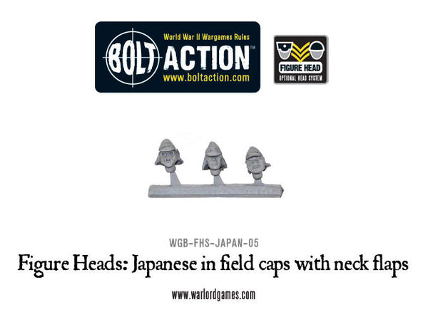 Figure Heads: Japanese in field caps with neck flaps