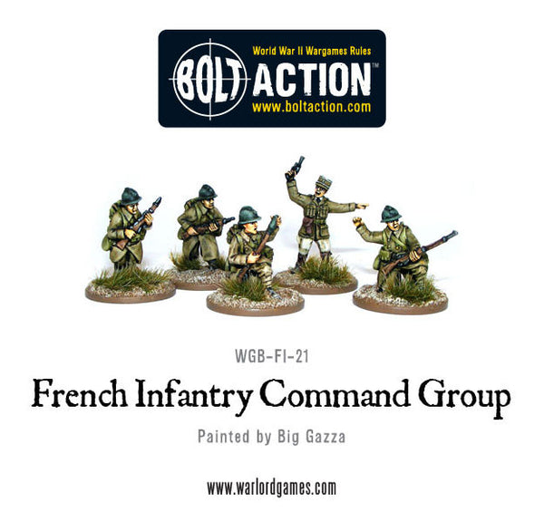 French Infantry Command Group