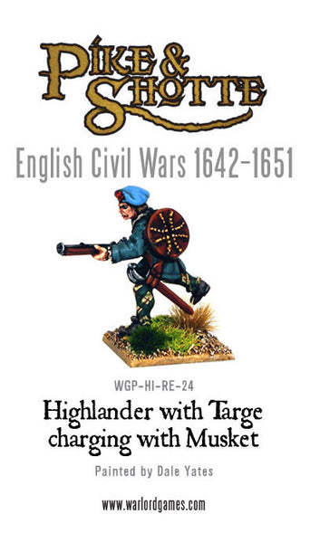 Highlander with Targe Charging with Musket