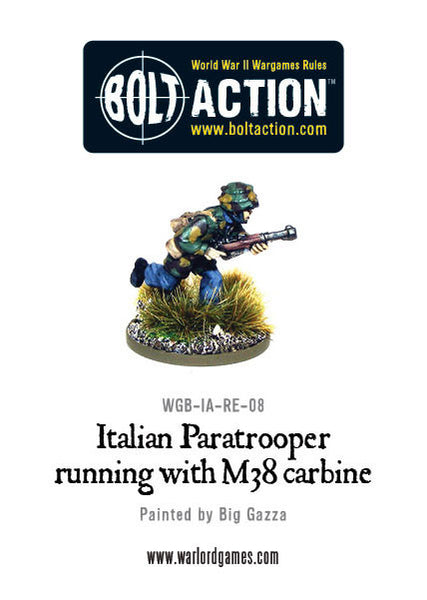 Italian Paratrooper Running with M38 Carbine
