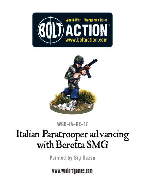Italian Paratrooper Advancing with Beretta SMG (2)