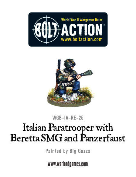 Italian Paratrooper with Panzerfaust and Beretta SMG