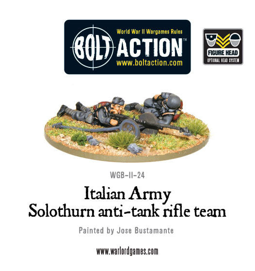Italian Army Solothurn anti-tank rifle team