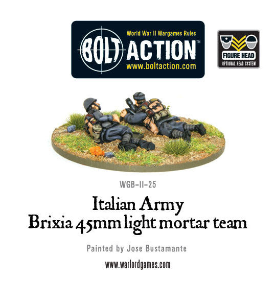 Italian Army 45mm Brixia light mortar