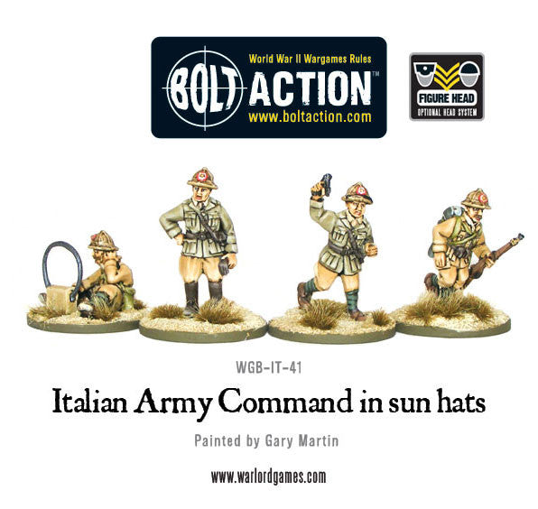 Italian Army Command in sun hats