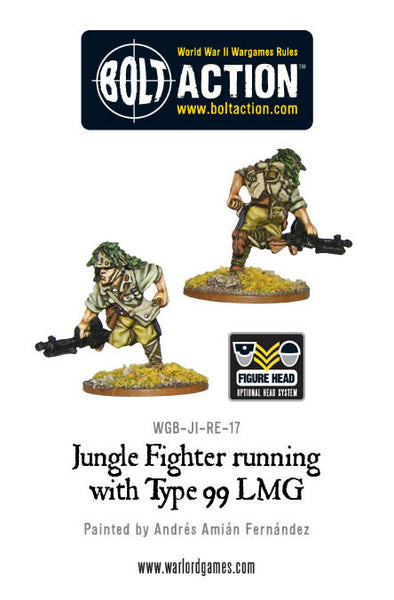 Jungle Fighter running with Type 99 LMG