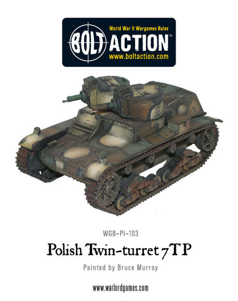 Twin-turreted Polish 7TP tank