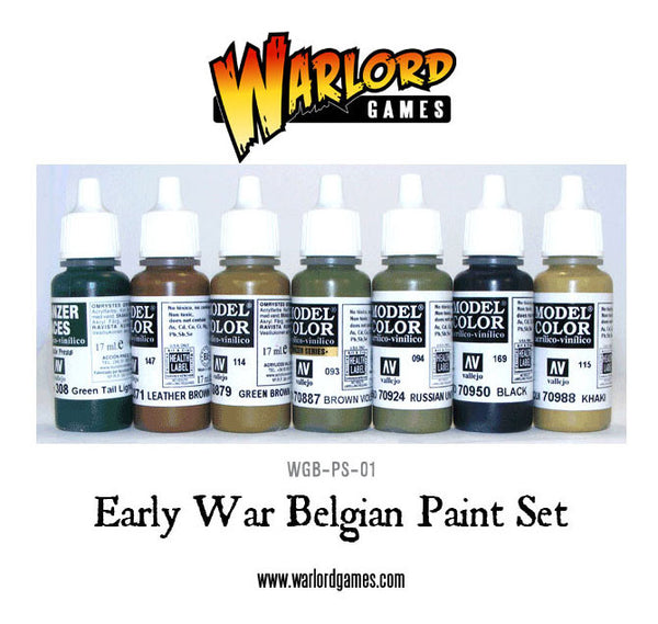 Early War Belgian Paint Set