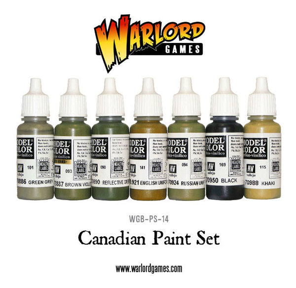Late War Canadian Army Paint Set