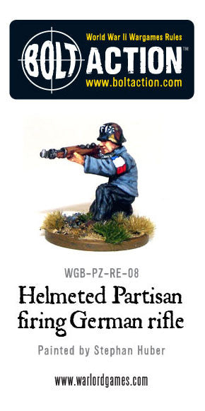 Helmeted Partisan with German rifle