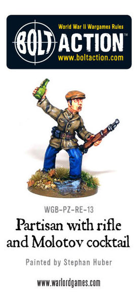 Partisan with Rifle and Molotov cocktail
