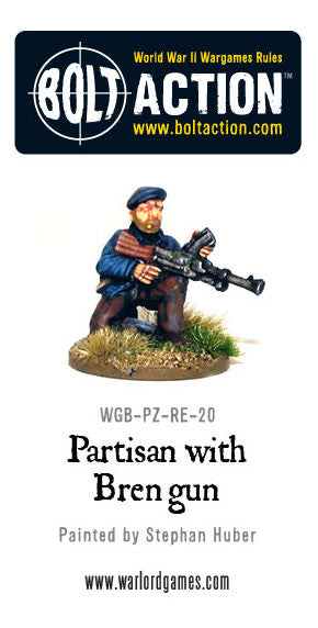 Partisan with Bren Gun