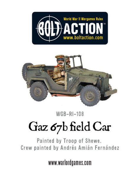 Soviet Gaz 67b field Car