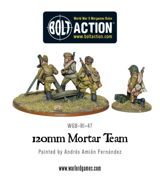 Sovet Army 120mm heavy mortar team